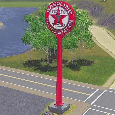 Mod The Sims - WCIF the Mid Century Texaco Gas Station Sign