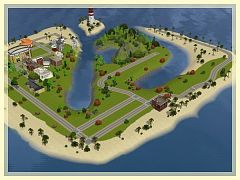 Sims 3 island, city, world