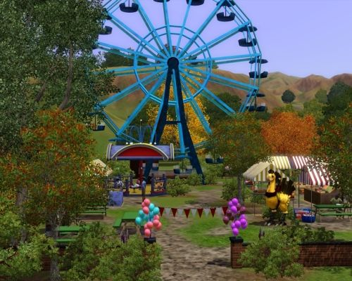 Sims 3 community, lot, market, farm
