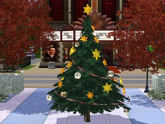 Sims 3 Updates - The Sims Resource: XMas Tree large By ShinoKCR