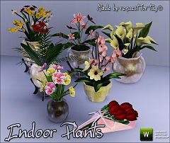 Sims 3 plant, vase, decor, flowers