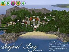 Sims 3 world, town, buildings, residential, community
