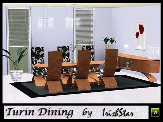 Sims 3 dining, diningroom, furniture, set