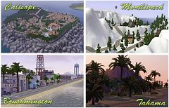 Sims 3 world, neighborhoood, island