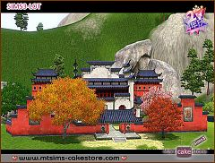 Sims 3 chinese, college, lot, community