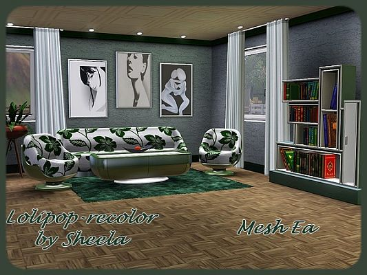 Sims 3 livingroom, furniture, objects, decor, recolors