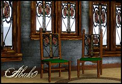 Sims 3 window, chair, art, nouveau