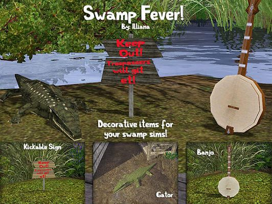 Sims 3 swamp, decor, objects