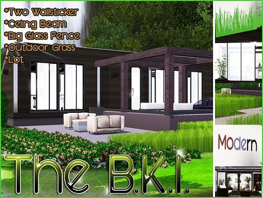 Sims 3 house, lot, residential, wallsticker, grass