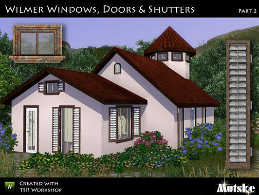 Sims 3 windows, doors, build, arhitecture, set