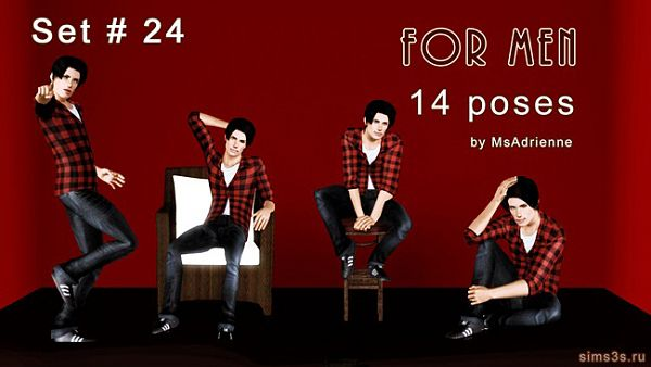 Sims 3 pose, poses, set, male