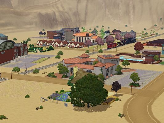 Sims 3 world, neighbourhood, canyon