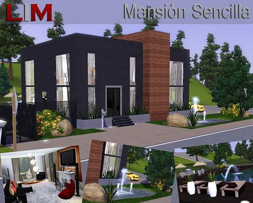 Sims 3 house, lot, residential, mansion