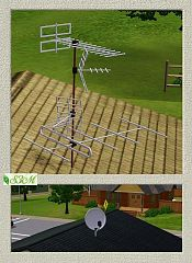 Sims 3 antenna, satellite, house, decor