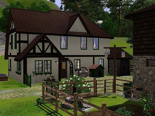 Sims 3 house, lot, residential, farm