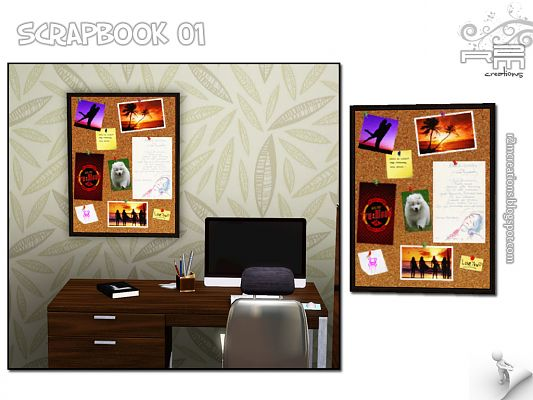Sims 3 decor, office, scrapbook
