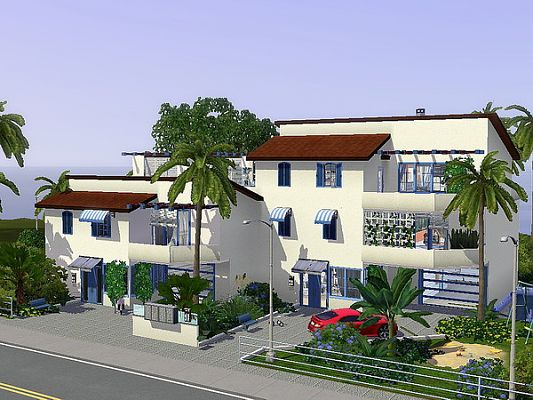 Sims 3 house, town, lot, residential
