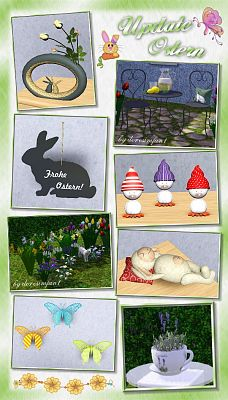 Sims 3 easter, decor, objects, bunny, eggs