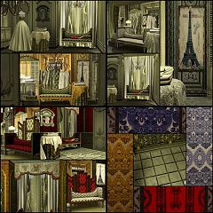 Sims 3 pattern, patterns, texture, furniture, decor, vintage, set