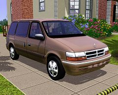 Sims 3 car, auto, vehicle, dodge, van, caravan, family car