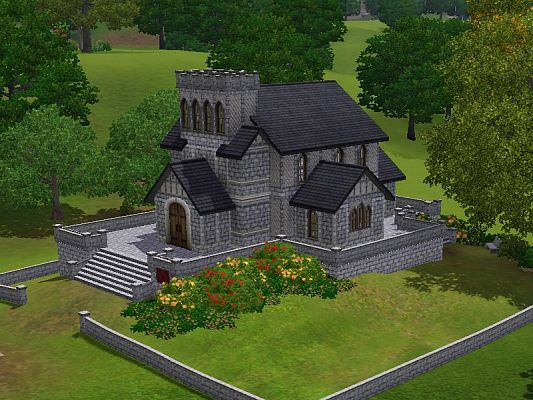 Sims 3 church, lot, community