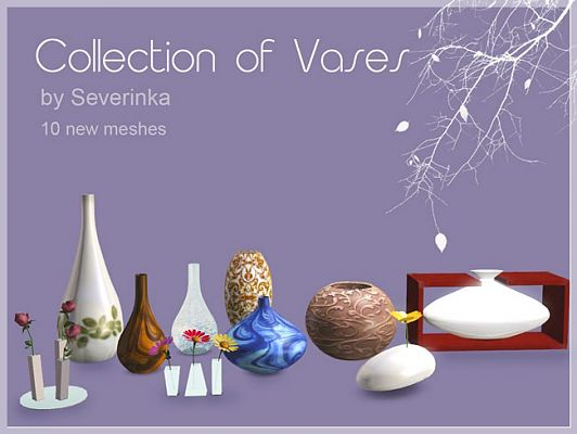 Sims 3 vases, decor, objects