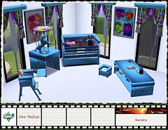 Sims 3 nursery, objects, furniture, set