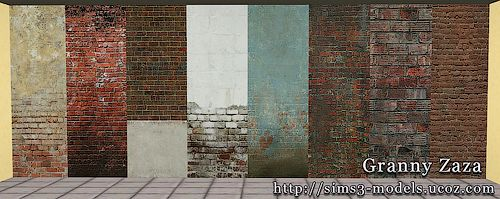 Sims 3 patterns, walls, brick
