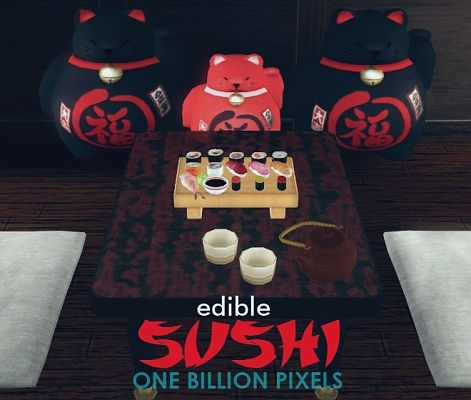 Sims 3 decor, objects, food, sushi