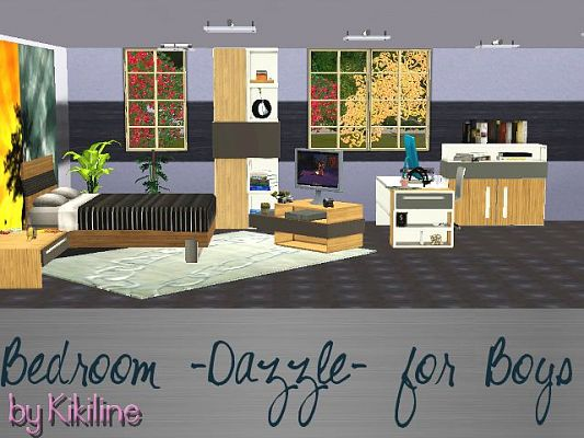 Sims 3 bedroom, objects, decor, furniture