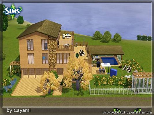 Sims 3 residential, lot, building, house, decor, objects