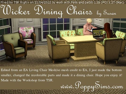 Sims 3 dining, diningroom, furniture, chair