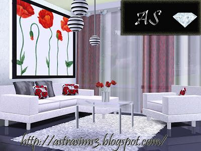 Sims 3 living, livingroom, set, furniture