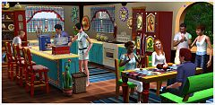 Sims 3 fiesta, set, icecream, kitchen, hacienda, sims3, sims 3