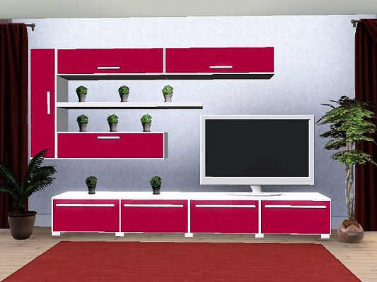 Sims 3 living, livingroom, furniture, media