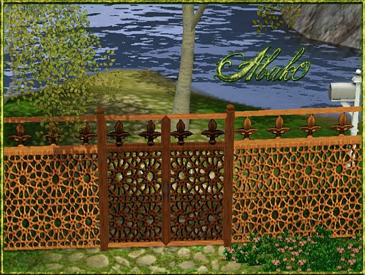 Sims 3 fence, gate, build, objects