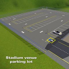 Sims 3 parking, lot, community