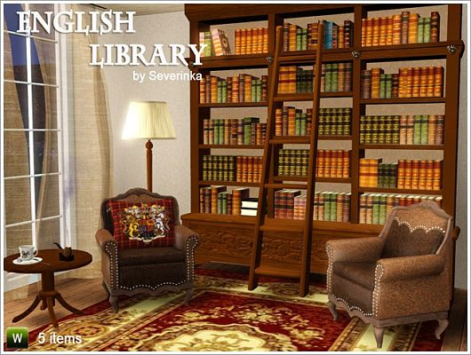 Sims 3 library, furniture, objects, decor