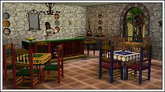 Sims 3 restaurant, objects, decor, furniture, mexic
