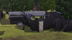 Sims 3 ruine, house, lot