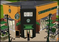Sims 3 community, lot, restaurant