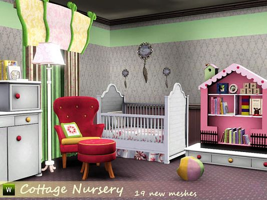 Sims 3 nursery, bedroom, kids