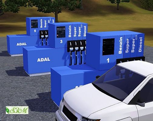 Sims 3 gas, station, sims3