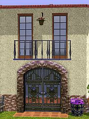 Sims 3 balconies, decor, build, spanish