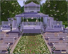 Sims 3 lot, community, wedding, gazebo