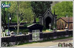 Sims 3 lot, community, cemetary