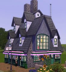 Sims 3 community, lot, building, sweeteshop, nectary
