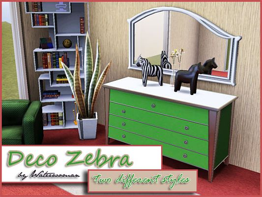 Sims 3 zebra, decor, objects