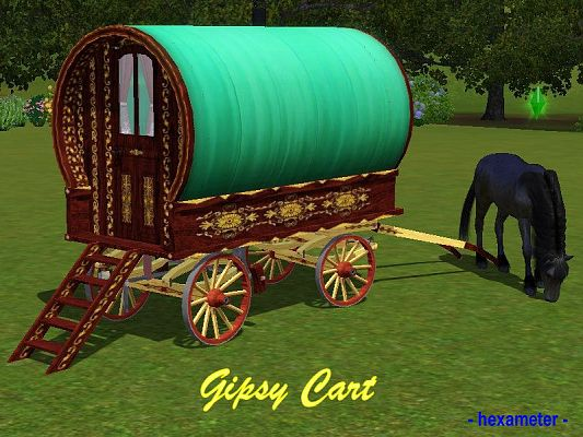 Sims 3 gipsy, carts, outdoor