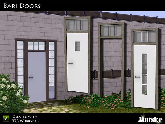 Sims 3 doors, build, arhitecture, set
